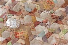 Pink Caramel: Hexagonal Pinwheel 2