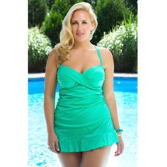 420280865f5a5 Sponsored Plus Size Fashion Trend of the Day… Chic Solids Martinique 2 Pc  Skirtini From AlwaysForMe.com
