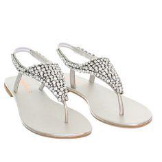 formal flat silver sandals for wedding  6b8b7f5cf