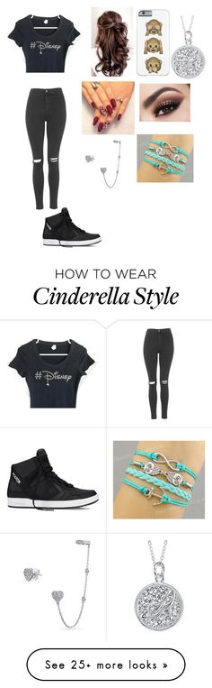"""""""Untitled #576"""" by whitesidesgirl2 on Polyvore featuring Topshop, Converse, Disney and Bling Jewelry"""