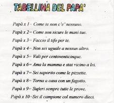 Father& Day Archives - Page 2 of 4 - BuongiornoColSorr .-Festa del Papà Archives – Pagina 2 di 4 – BuongiornoColSorr… Father& Day Archives – Page 2 of 4 – BuongiornoColSorr … - Mom And Dad, My Dad, Diy Gifts For Kids, Father's Day Diy, Special Quotes, Good Jokes, Nursery Rhymes, Fathers Day, Daddy