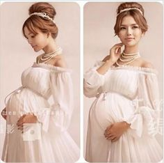 b5362c69956 2017 New White Lace Maternity Dress Photography Props Long Lace Dress  Pregnant Women Elegant Fancy Photo