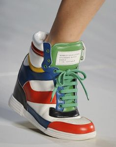 marc jacobs colorful wedge sneakers - want! #shoes