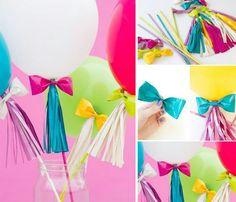 Decorando globos para una fiesta