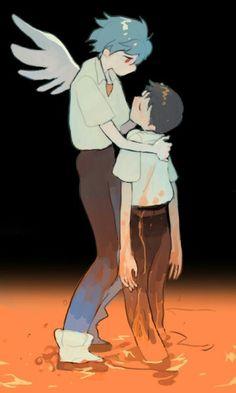 Neon Genesis Evangelion - Kaworu and Shinji