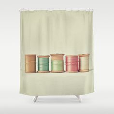 Five in a Row Shower Curtain by Cassia Beck - $68.00