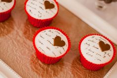 Fondant and use a dye pen to write lovey things
