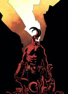 Hellboy, Wake the Devil cover art by Mike Mignola.