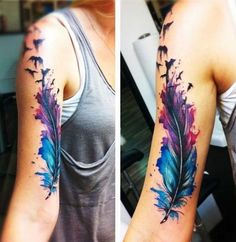 Arm tattoo with color - Tatuaje de color en el brazo