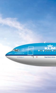 A 330-200 KLM Airliner. Detailed view...