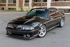 View all photos of Scott Hartrick' 1988 GT is so much more than just your usual black Fox Mustang at Ford Mustang Gt, Fox Body Mustang, Mustang Cobra, Saleen Mustang, Mustang Girl, Cool Sports Cars, Sport Cars, Mustang Hatchback, Ford Fox