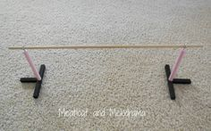 DIY american girl ballet barre tutorial.  What a great project!