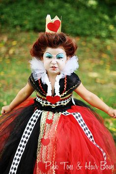 Queen of Hearts tutu dress-Queen of hearts costume-Alice in wonderland costume- by GlitterMeBaby on Etsy https://www.etsy.com/listing/163260261/queen-of-hearts-tutu-dress-queen-of