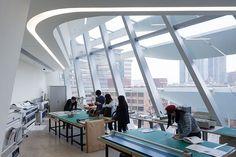 Firm: Zaha Hadid Architects. Project: The Jockey Club Innovation Tower at Hong Kong Polytechnic University. Location: Hong Kong. #design #interiordesign #interiordesignmagazine