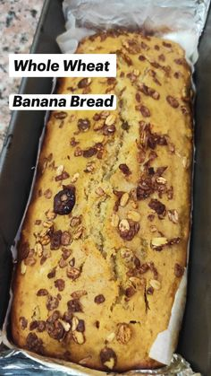 Best Dessert Recipes, Healthy Desserts, Fun Desserts, Healthy Recipes, Whole Wheat Banana Bread, Healthy Lifestyle, Cooking Recipes, Homemade, Sweet