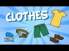 Aprende inglés. Las Prendas de Ropa y Accesorios. Vídeos para niños. - YouTube