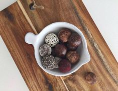 Yummy raw chocolate truffles with different coatings like charcoal, beetroot powder, chia seeds, raw cacao and many more ideas. Check it out www.liveandtaste.com