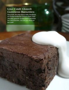 Low Carb Glazed Guinness Brownies from Feast St. Patrick's Day