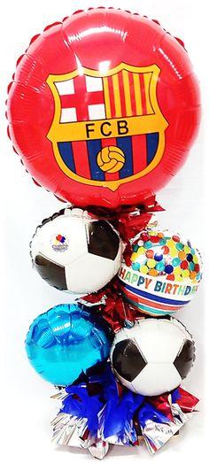 Festeja a tu Cumpleañero con un #Arreglo de #Globos de su Equipo favorito!!