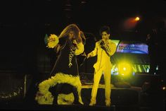 Classic Prince | 1991 Diamonds & Pearls Tour - Rare concert photo with Rosie Gaines! Fantastic shot, the stage was also stellar but seldom seen in detail because of almost all photos were of close ups of Prince.