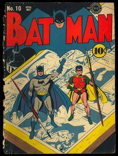 Batman 10 Original Covers Only Golden Age DC Superhero Comic 1942 | eBay