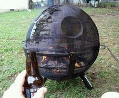 Death Star Fire Pit...yes, please!