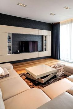 Family Room Design With Tv Contemporary. 20 Stunning Modern Living Room Designs That Will Dazzle You. Cool House Designs, Modern House Design, Modern Interior Design, Interior Design Living Room, Luxury Interior, Living Room Tv, Living Room Remodel, Living Room Modern, Rv Living