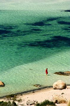 Lady in red - Balos, Hania,  Crete  Greece