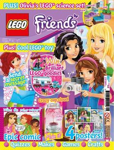In this issue: Olivia's LEGO science set! 4 Posters. Have the chance to win brilliant Lego goodies! PLUS quizzes, puzzles, makes, games and crafts