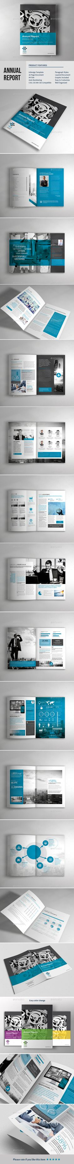 Annual Report Brochure Template InDesign INDD #design Download: http://graphicriver.net/item/annual-report-brochure-template/14115901?ref=ksioks