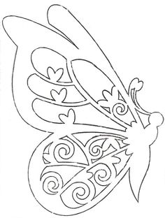 Image result for butterfly paper cutting template