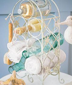 Problem: My bathroom is too messy to be relaxing. | Do you have an organization problem? Tidy up your house with these ten low-cost clutter solutions.
