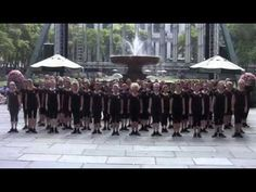 Flash mob of Irish dancers in New York City