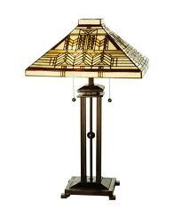 Prairie style stained glass shade