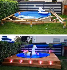 these spots you can put your swimming pool in the right place and can . With these spots you can put your swimming pool in the right place and can . With these spots you can put your swimming pool in the right place and can . Piscina Diy, Diy Swimming Pool, Diy Pool, Kiddie Pool, Pool Pool, Backyard Pool Designs, Modern Backyard, Backyard Decks, Backyard Ideas On A Budget