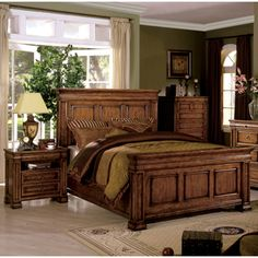 Wynwood Cordoba Burnished Pine King Size Mansion Bed Bedroom