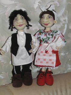 куклы еврей и украинка рост 35-40 см
