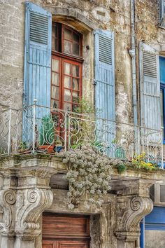 Provential France - powder blue shutters