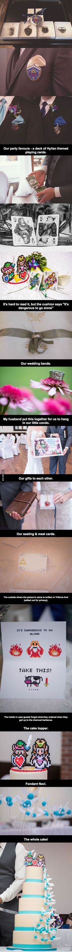 This is what happens when a strange and geeky couple of hopeless romantics get married.