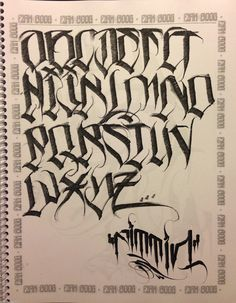 More lettering
