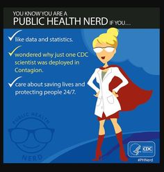 Passionate about public health? [GRAPHIC] RT to let your inner #PHNerd out! @Centers for Disease Control and Prevention pic.twitter.com/RctrOCsT0X