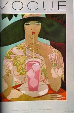 Vintage Vogue cover by Harriet Meserole, August 1926