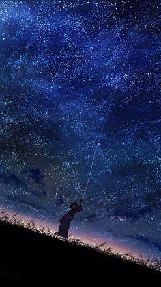 starry skyscape / anime art