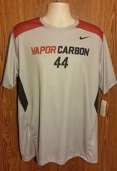 Mens Nike Football Vapor Carbon Shirt Large #nike #ShirtsTops