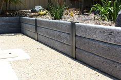 Ridgi Gumtree concrete sleeper & steel post retaining wall ...