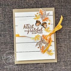 Fall Cards, Holiday Cards, Leaf Cards, Stamping Up Cards, Scrapbook Cards, Scrapbooking, Thanksgiving Cards, Pretty Cards, Autumn Theme
