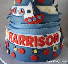 Sailboat Nautical Birthday Cake Bottom