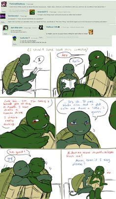 Ask the AU Turtles: 2 by 10yrsy on deviantART