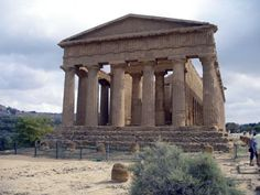 Temple of Concordia, constructed around 430 BCE is the best preserved. All 34 honey brown calcarenite columns remain standing.
