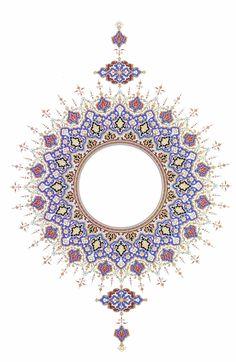 Persian Designs – Page 2 – vangeva Motifs Islamiques, Islamic Motifs, Islamic Art Pattern, Pattern Art, Arabic Calligraphy Art, Arabic Art, Calligraphy Alphabet, Mandala Drawing, Mandala Art